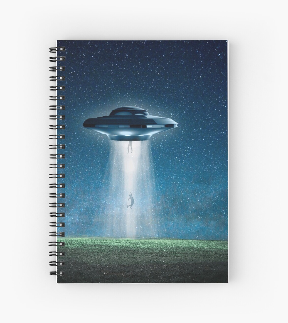 Galaxy Universe Flying Saucer Alien Abduction Art Spiral Notebook By Createdproto Universe Galaxy Alien Abduction Flying Saucer