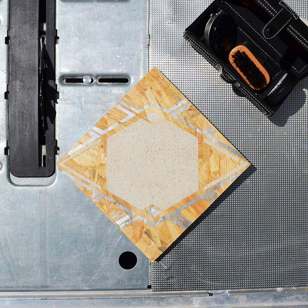 """Decorative Wood Tiles Espace Diamond  Collection """"indus""""  Indus N°3 Carreaux De Bois"""