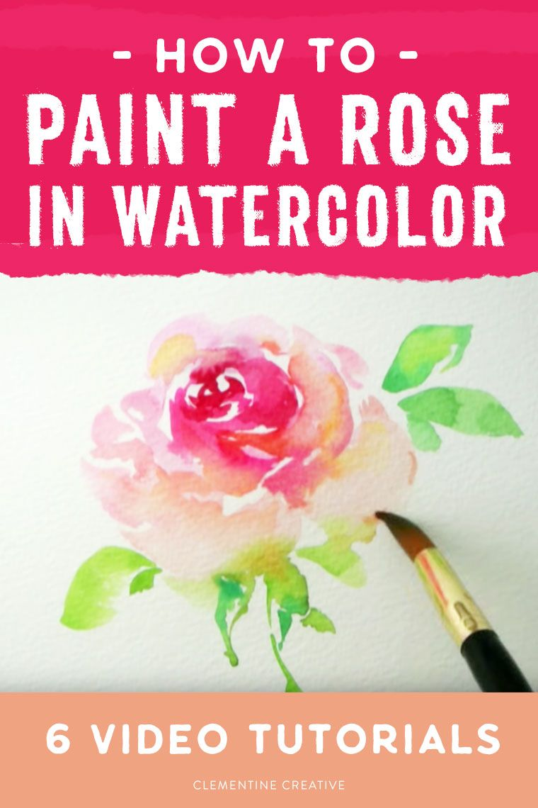 How to Paint a Loose Rose in Watercolour 6 Video Tutorials is part of Loose watercolor paintings, Watercolor paintings tutorials, Loose watercolor flowers, Watercolor flowers tutorial, Watercolor paintings, Watercolor - Want to learn how to paint a loose watercolour rose  Check out these 6 free video tutorials that show you stepbystep! Two class recommendations are also included for more indepth learning