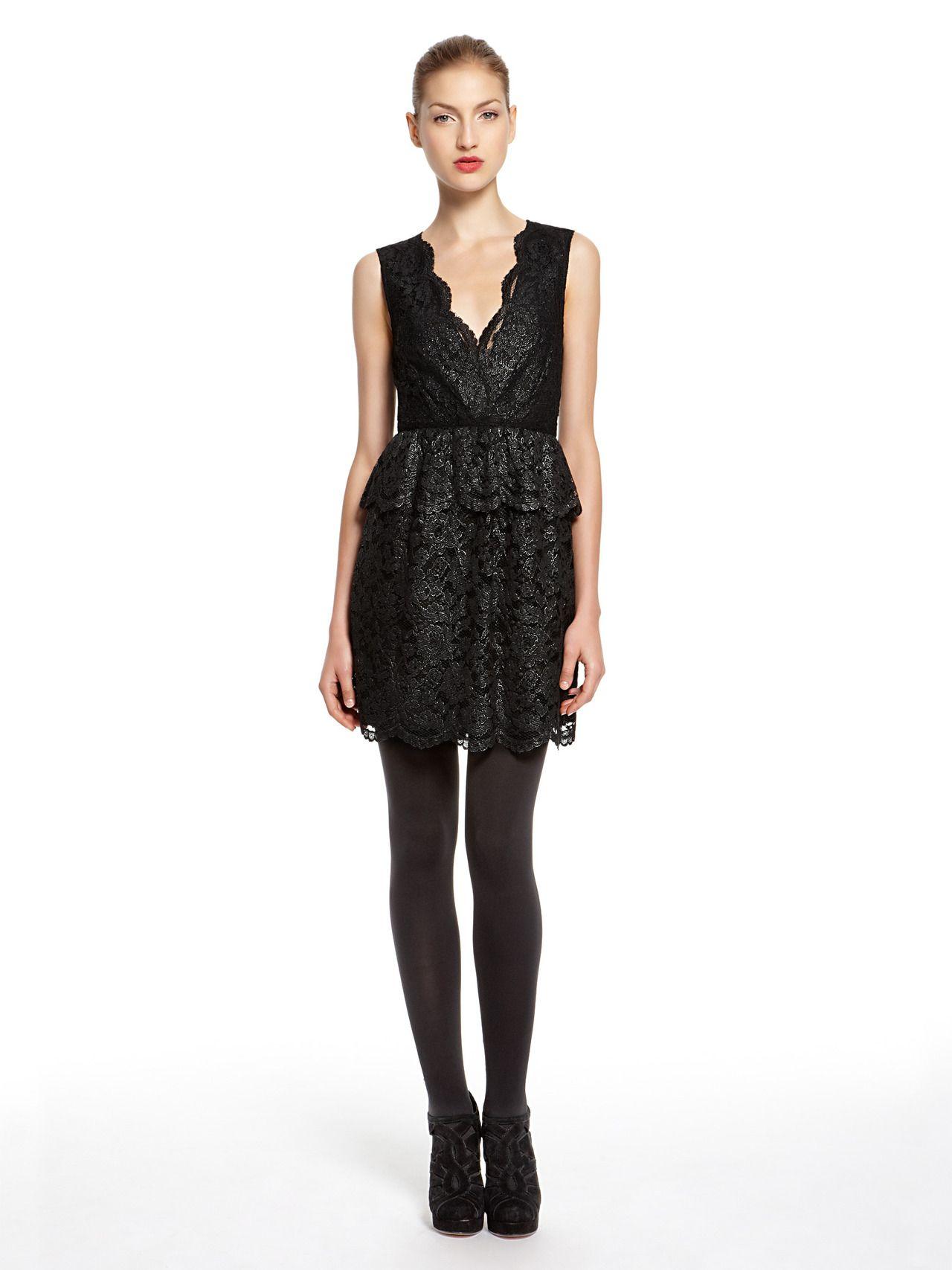 V neck black lace dress  DKNY lace dress  Fashion  Pinterest  Lace dress and Fashion