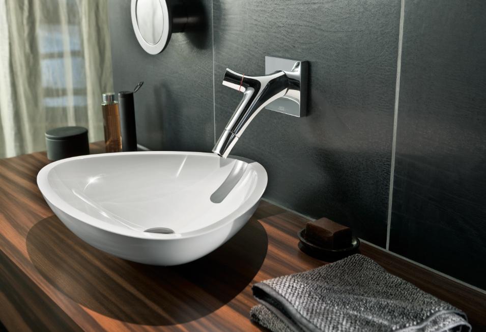 Hansgrohe Axor wall mounted mixer tap with Massaud basin. | bathroom ...