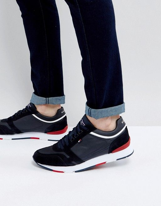 24386dd2a Tommy Hilfiger Leeds Trainer in Navy | Mens Shoes and Trainers ...