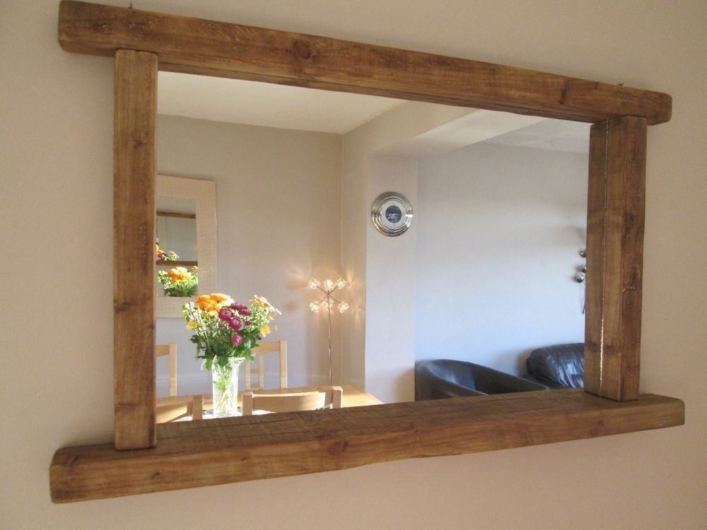 Reclaimed Wood Mirror Small Square Mirror Bathroom Mirror: Details About Rustic/Farmhouse/Driftwood Handcrafted