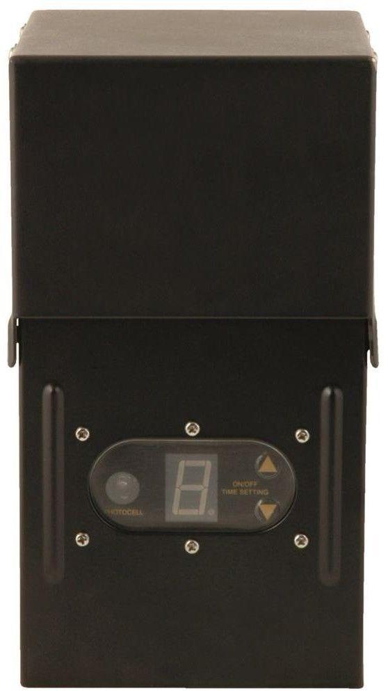 Power Pack Low Voltage Black Outdoor Lighting Light Sensor Metal Raintight Case Outdoorlight S Low Voltage Lighting Outdoor Lighting Transformer Light Sensor