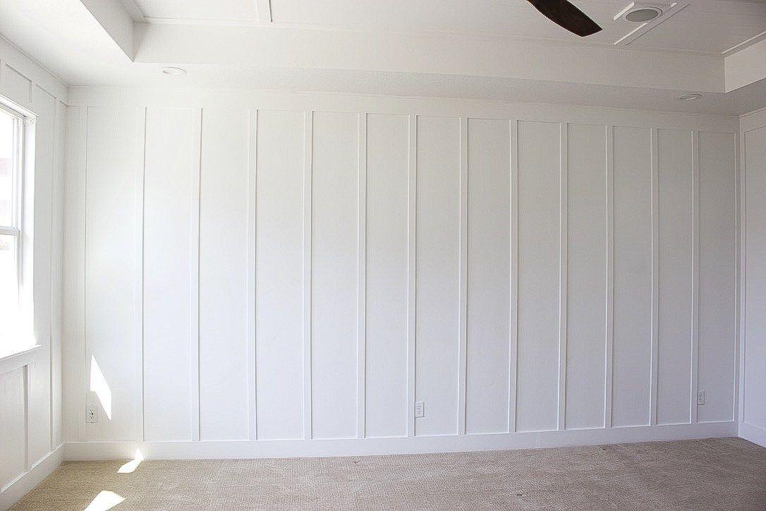 Vertical Board White Paneling Home Shiplap Bedroom