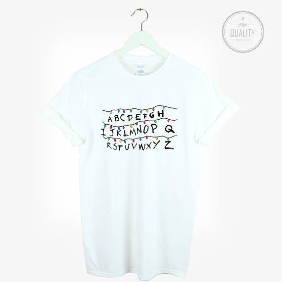 Stranger Things Alphabet T Shirt Shirt Laufen T Shirt Unisex