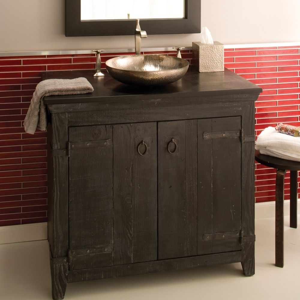Americana Rustic Bathroom Vanity Bases Native Trails With Regard