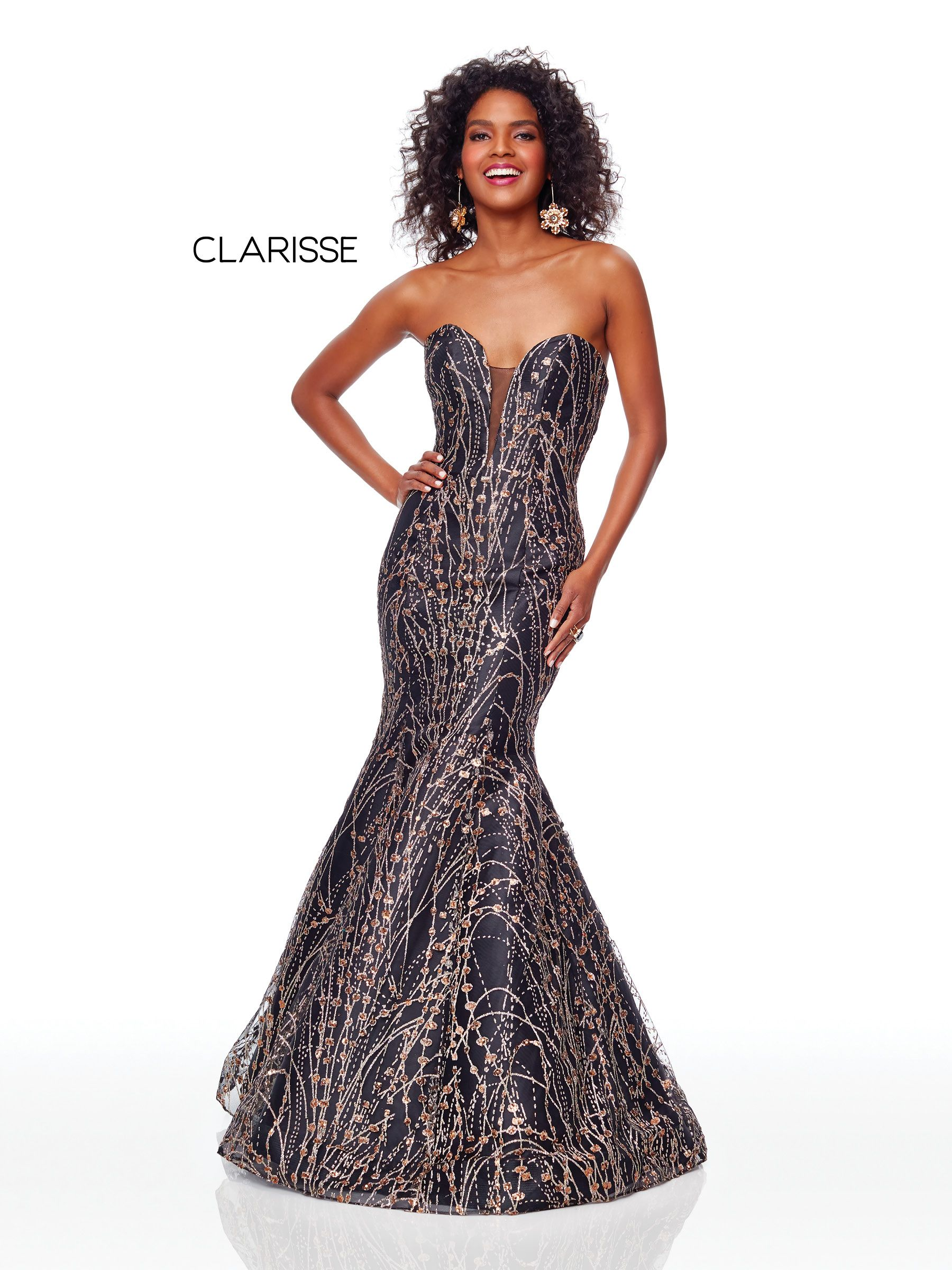 f69473f5f58 3719 - Black and gold glitter tulle gown with a corset back ...