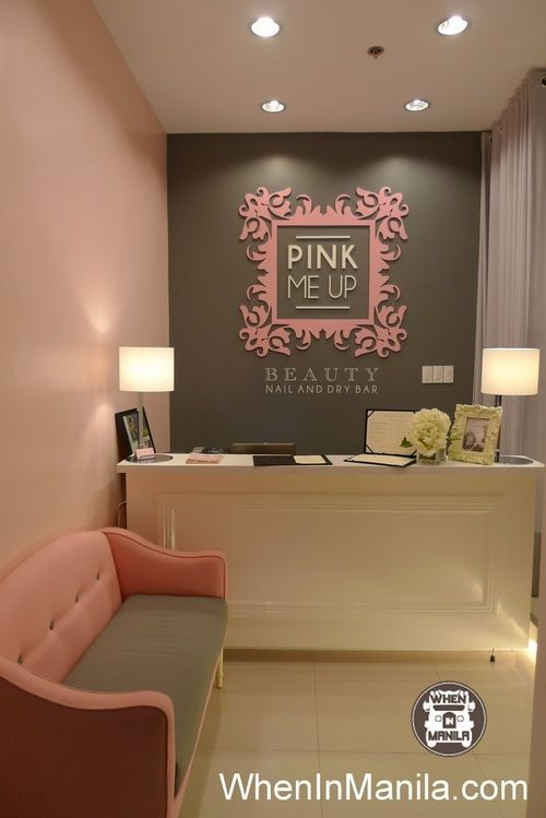 Is Interior Design For Me Nail Salon For Me Nail Salon Pinterest Pink Counter Pink Nail Salon, Nail Salon Design, Nail Salon Decor, Salons  Decor