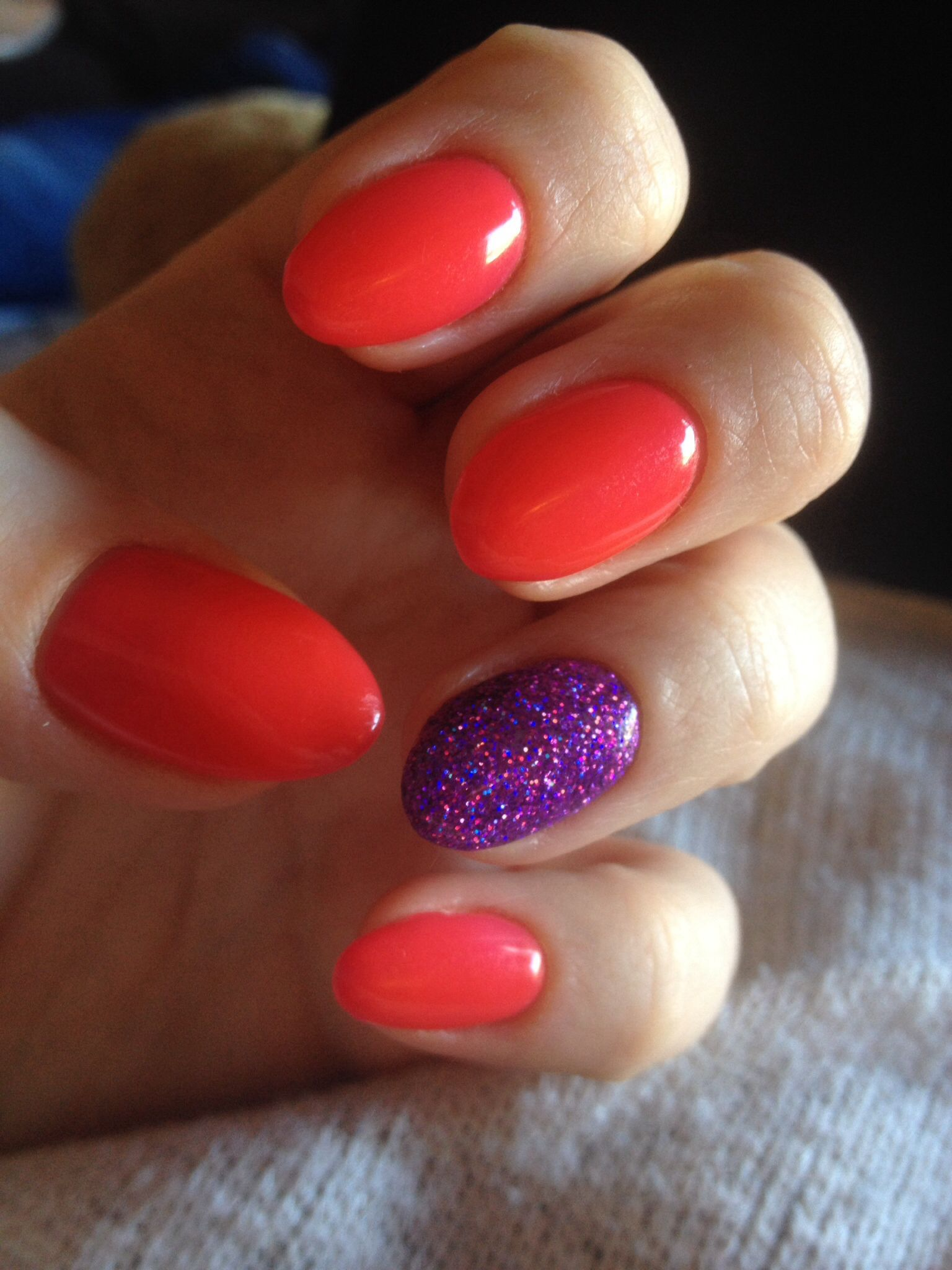 Bio Sculpture No 101 With Purple Glitter Nail Art Nails