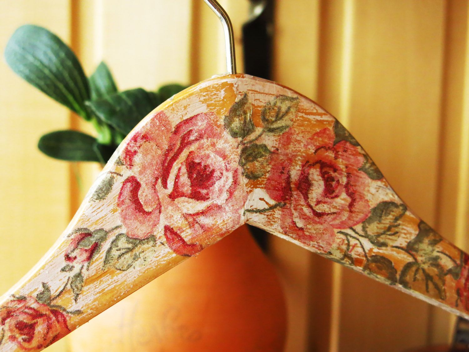 Floral dress hanger Decoupage home decor Practical gift Storage optimization Handmade hanger Ethnic style item dress hanger rustic style floral hanger decoupage colorful hanger storage optimization wooden hanger gift for her practical gift home decor flowers hanger wood ethnic style housewarming gift 9.00 USD #goriani