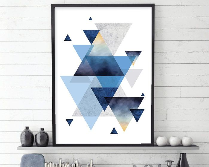 Geometric Poster Downloadable Printable Wall Art Geometric Etsy Geometric Poster Geometric Wall Art Scandi Art