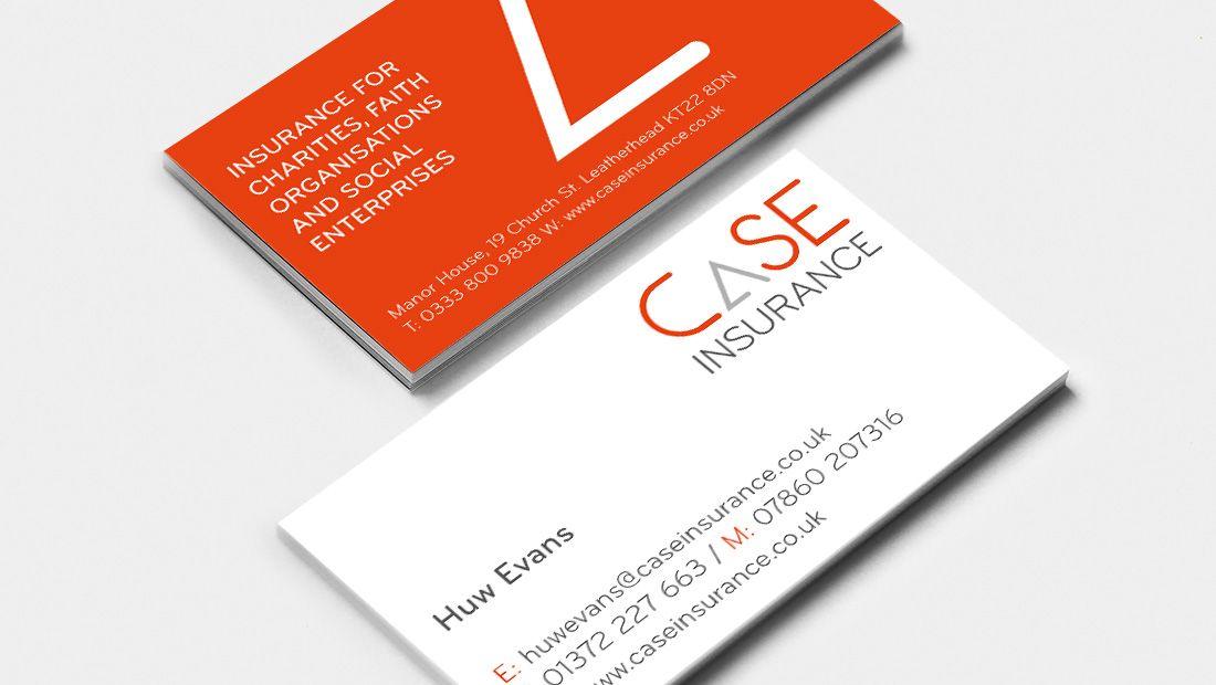 Business Card Design For Case Insurance Business Card Design Card Design Print Design