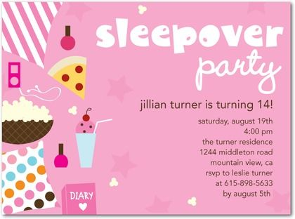 cute sleepover invitations