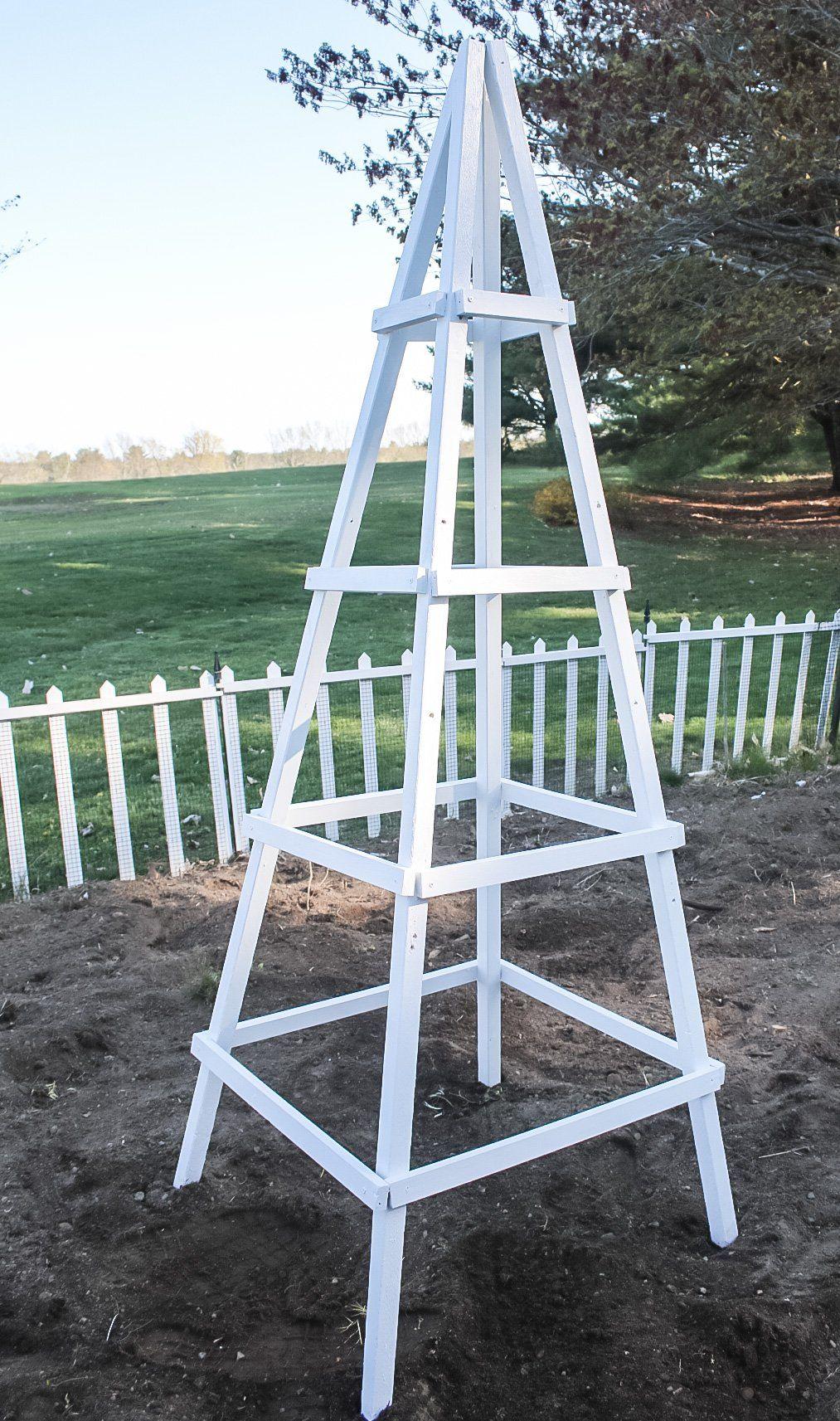 How To Build A Garden Obelisk in 12  Garden obelisk, Diy garden