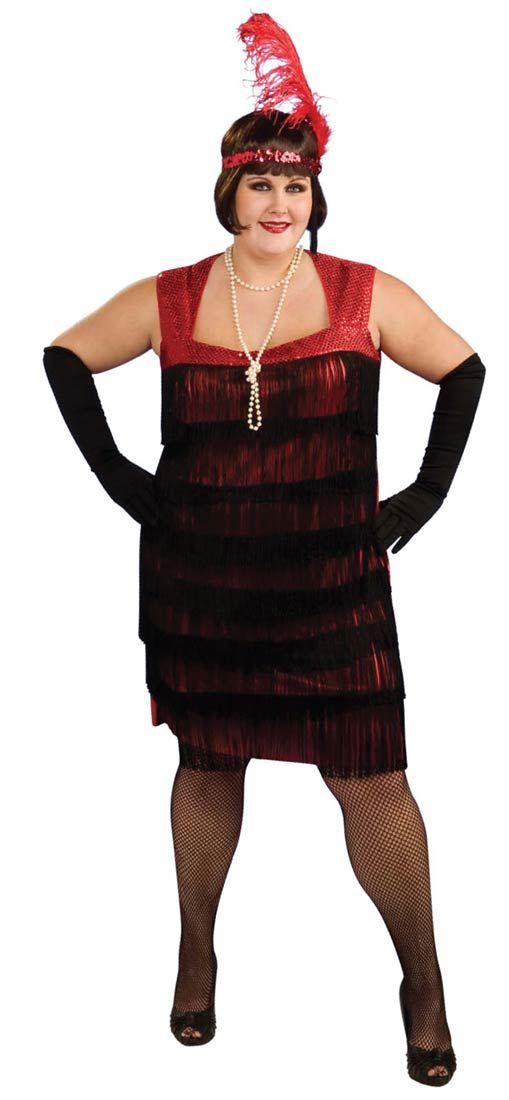 Plus Size Red Flapper Costume - Flapper Costumes fancy dress ideas - halloween costume ideas plus size