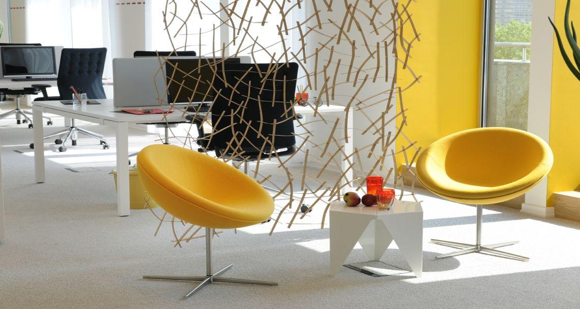 Espace détente dans les bureaux de deka à bruxelles belgique