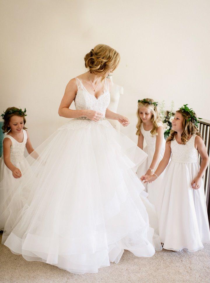 Bride and adorable flower girls #flowergirls #weddingideas #traditionalwedding