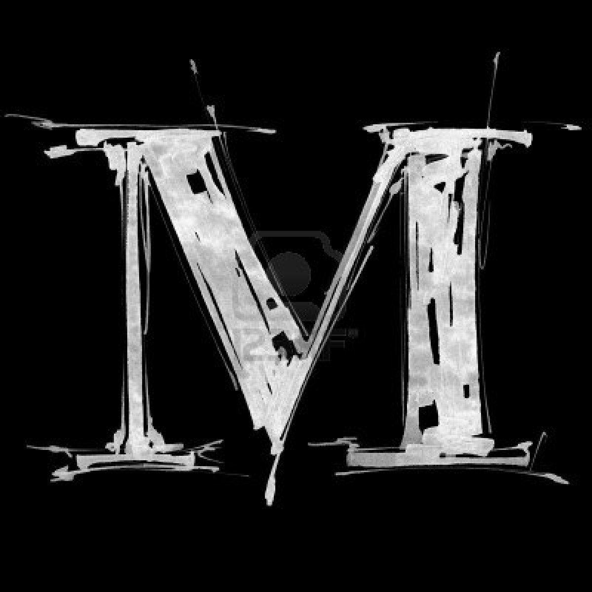 Image Detail For Letter M Alphabet Symbol Grunge Hand Draw Paint