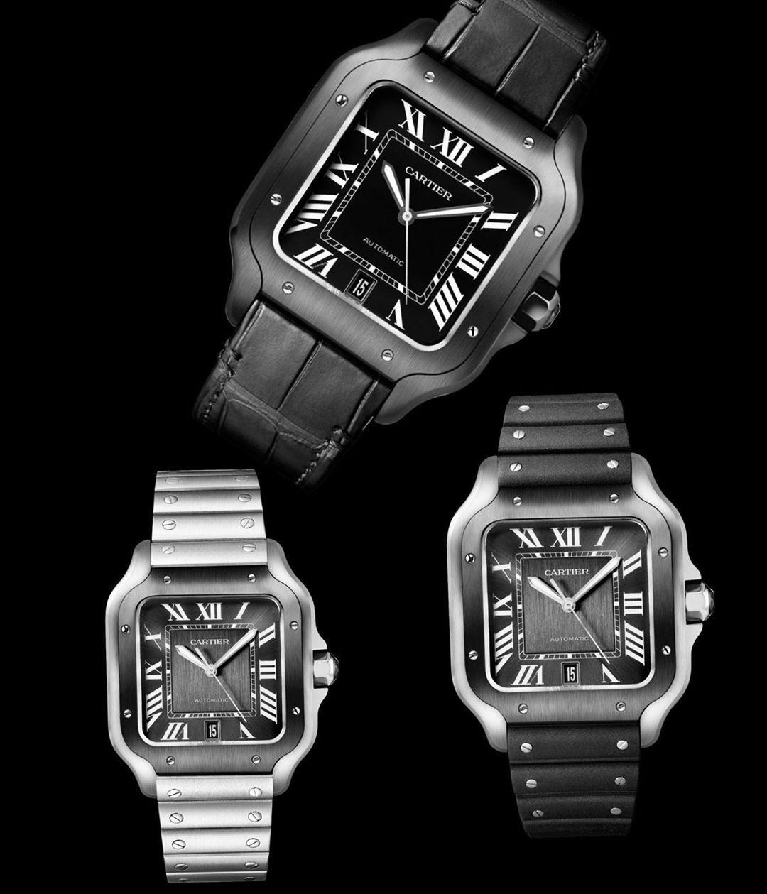 Magnificent 1847 On Instagram Santos De Cartier Watch Santos De Cartier Watch Large Model Manufacture Mechanical Movement With En 2020 Cartier Instagram My Guy