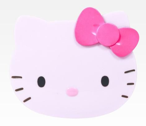Hello Kitty Die-Cut Compact Mirror: Pink