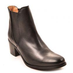 Boots femme MKD By Minka Design Napoles en cuir Noir Talon de 5.5 cm ... 1839a91684c4