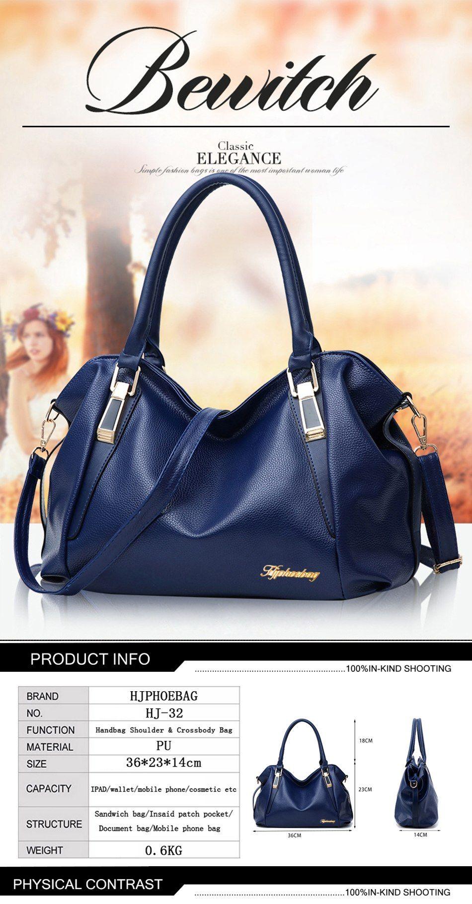 31.67 - Awesome HJPHOEBAG Women fashion leisure Hobos shoulder bag lady  high quality leather messenger bags 55e3d12592