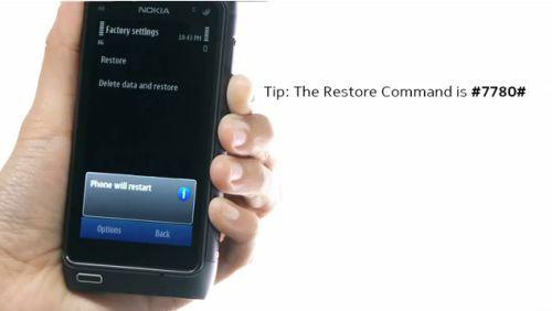 reset nokia n8 e nokia e7 la video guida di come fare il reset rh pinterest com Nokia 3 Nokia 6