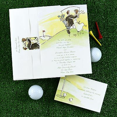 Wedding invitations-golf theme, with a great website for ideas