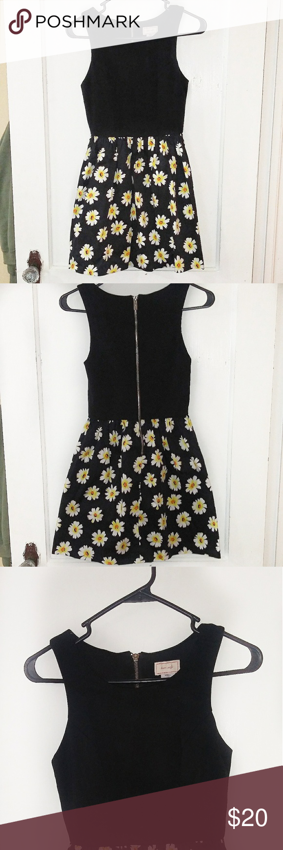 Nordstrom Love Ady Fit Flare Sunflower Dress Make Me An