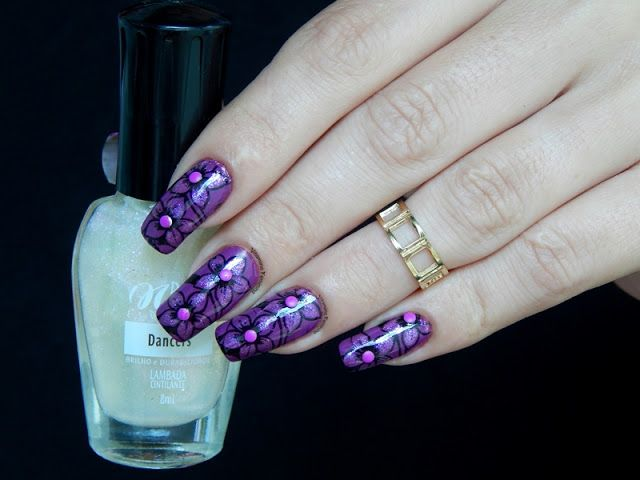 Noite Quente Colorama,carimbada PM02 e sutds Lady Queen   http://www.ladyqueen.com/6-colors-nail-art-stud-3d-nail-art-diy-design-decoration-fluorescent-studs-nail-wheel-box-na0284.html