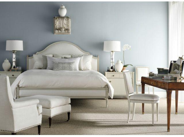 Suzanne Kasler Bedroom--upholstered Bed, Soothing Color