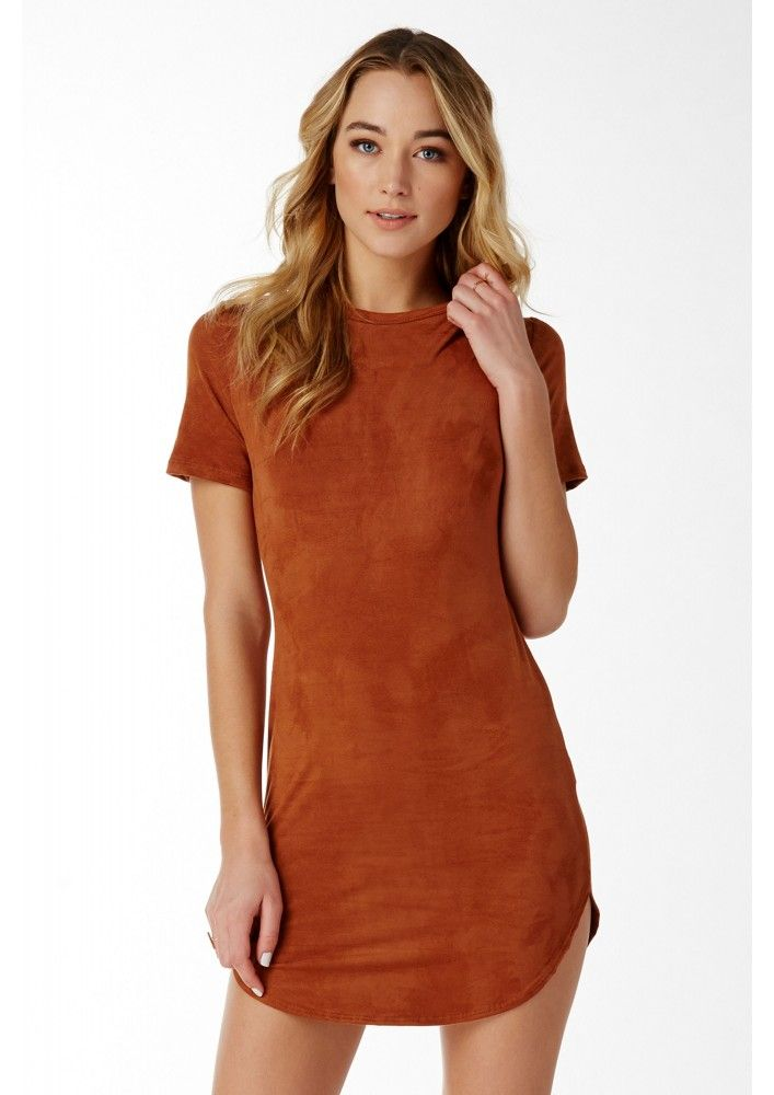 An adorable suede mini dress that's pleasing to the eye and also the touch. This soft piece has s...