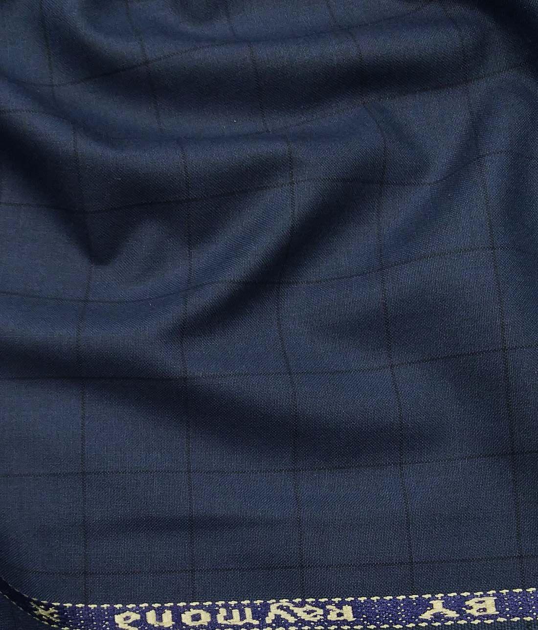 1f6e4076f Combo of Raymond Aegean Blue Checks Trouser Fabric With Nemesis Sky Blue  100% Giza Cotton White Printed Shirt Fabric (Unstitched)