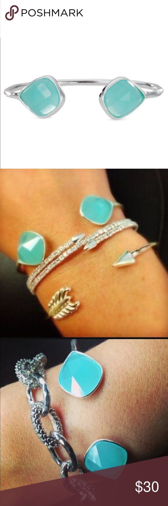 Stella & Dot Serenity Stone Cuff NWOT tags! Never worn Stella & Dot Jewelry Bracelets