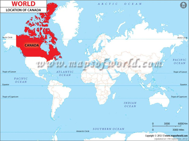 Canada Location On World Map Where is Canada, Canada Location in World Map | Location map