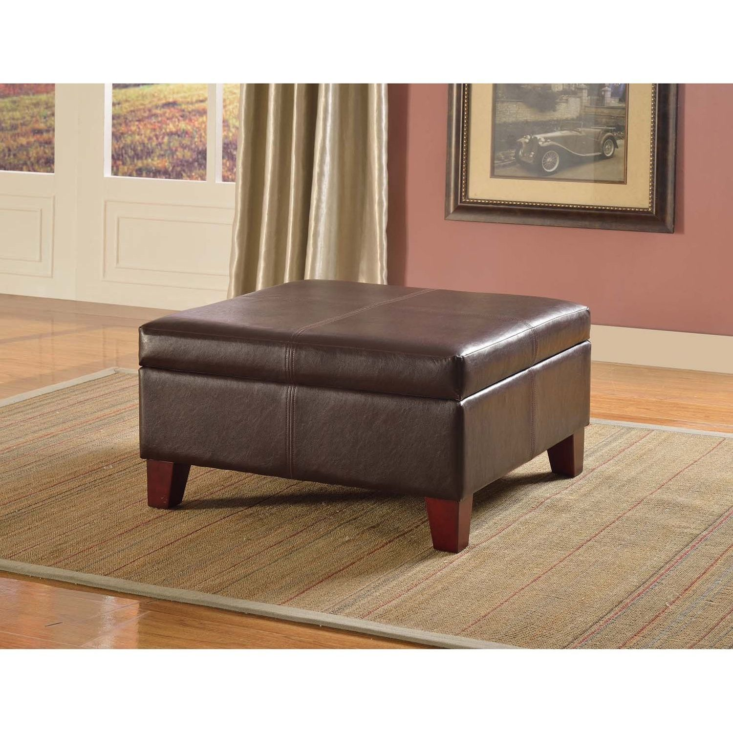 Ottoman Uses Sleek And Functional This Elegant Faux Leather Storage Ottoman