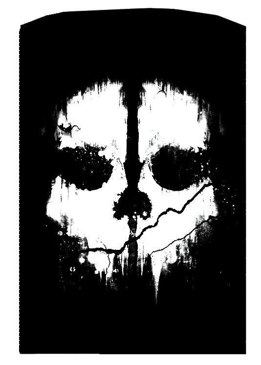 COD Ghosts Ghost Skull Logo Laser Engraved Zippo Lighter