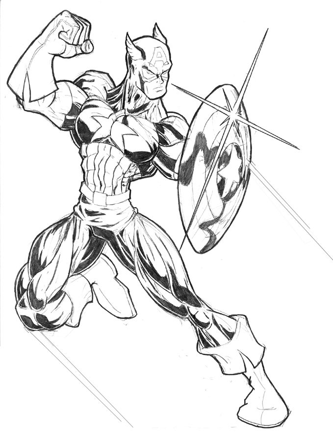Free Printable Captain America Coloring Pages For Kids | Printable ...