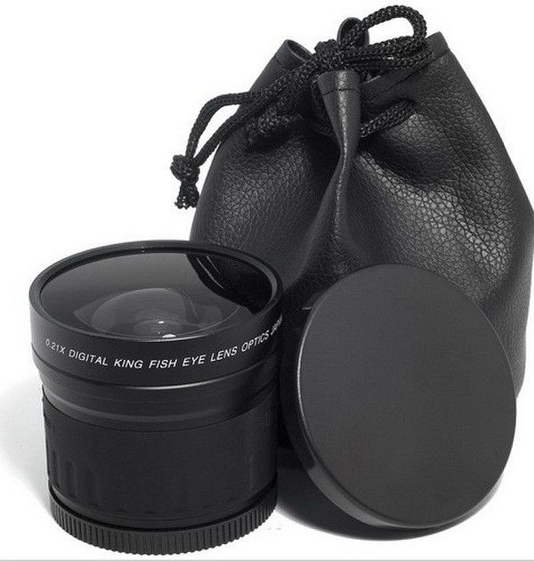 Universal 58mm 0.21X Wide Angle Fisheye Lens wiht Pouch for Canon for Nikon for Sony for Olympus DSLR//SLR