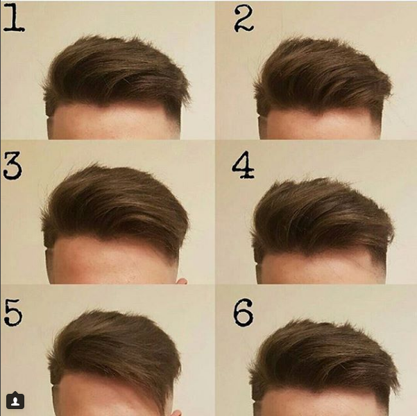 What is the second hairstyle called?
