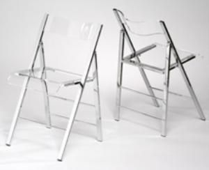 Picture Of Lucite Folding Chair (Set Of 2)