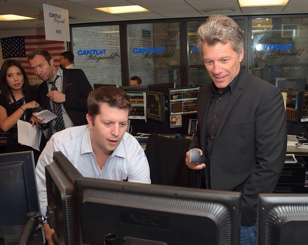 Sept. 11, 2014 New York, NY, USA  Jon Bon Jovi at Cantor Fitzgerald office.  He…