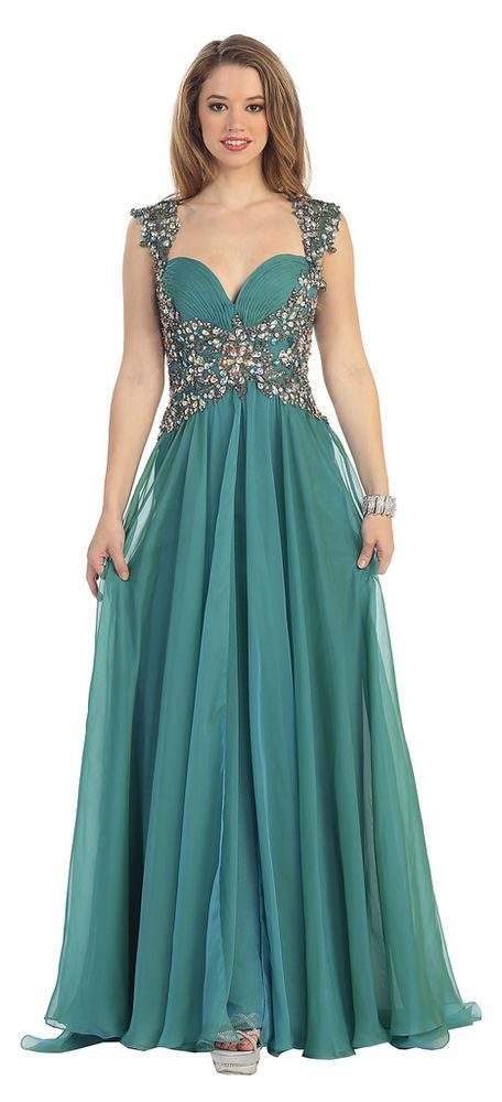 Cap Sleeve Sweetheart Sequins Pleated Chiffon 2015 Prom Plus Size Formal Dress #ThedressoutleT #Formal