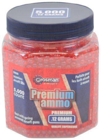 Crosman AirSoft BBs (5000 .12G 6mm, Red BBs)