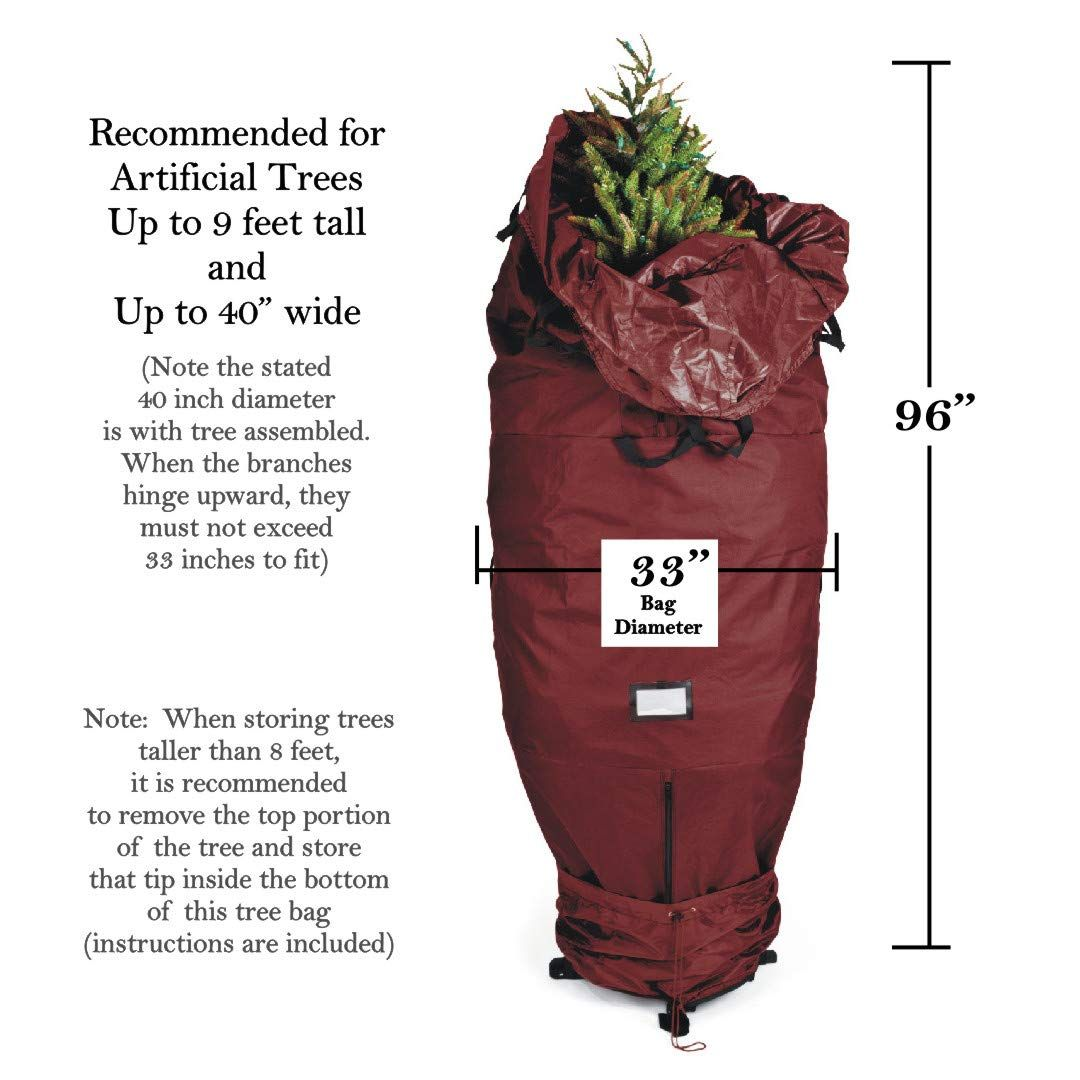 612 Vermont Heavyduty Upright Christmas Tree Storage Bag For Artificial Trees Up To 9ft Tall Tree Storage Bag Christmas Tree Storage Bag Christmas Tree Storage Christmas tree upright storage bag
