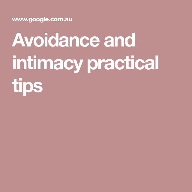 Avoidance of intimacy
