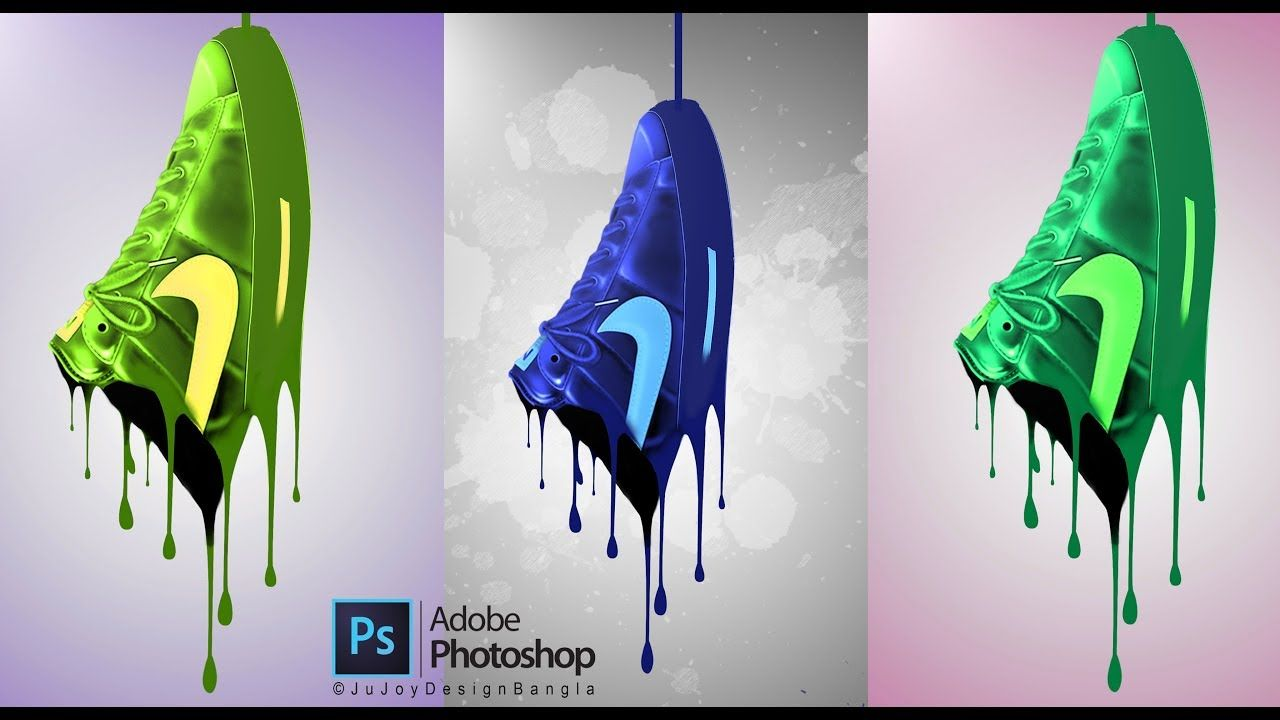 How to make Shoe Paint Splash in Photoshop CC By Ju Joy