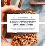 Chocolate Peanut Butter Rice Crispy Treat #crispytreats