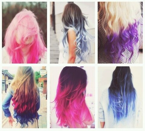Different Colored Hair Ombre Hair Color Hair Color Hair Styles